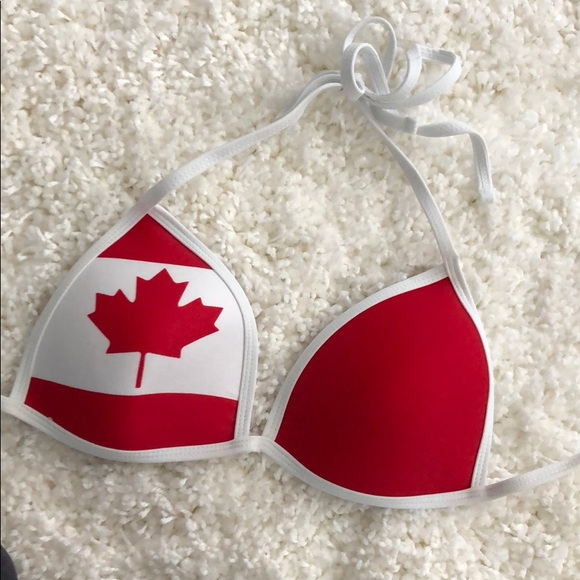 74e46982 Bluenotes Swim | Canadian Flag Bathing Suit Top | Poshmark